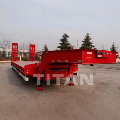 Low Bed Trailer 2 axles 50 tons for the transport of 75 ton and 45 ton machines