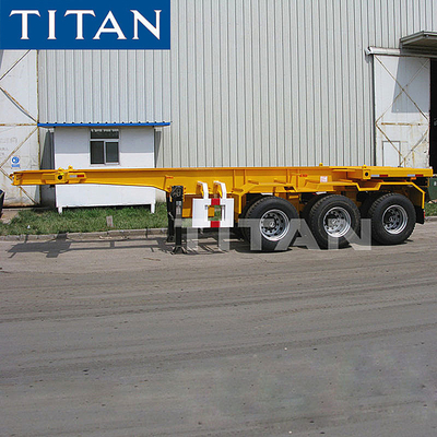 China TITAN 20ft Container Skeleton Trailer Chassis with Twist lock factory