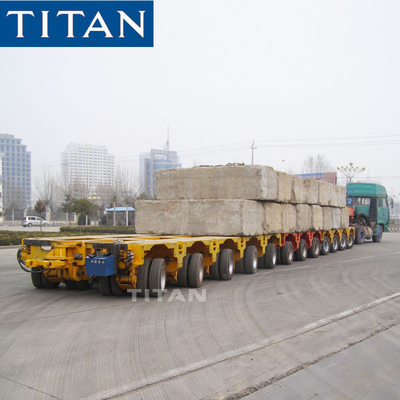 TITAN heavy truck trailer 12 axle modular hydraulic trailer with tow bar