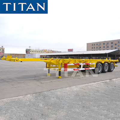 China TITAN Skeleton Semi-Trailer For Carry Container Transportation factory