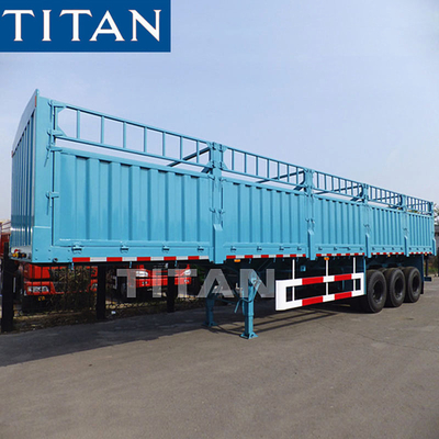China TITAN Grain Hoppers Step Wise Fence Cargo Stake Truck Trailer factory