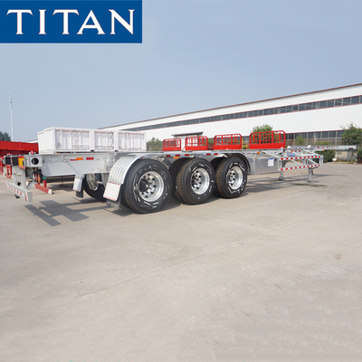 TITAN 3 axles 45 feet container trailer lightweight chassis for sale