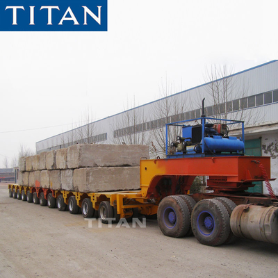 TITAN Combinable road going transport mechanical Steer hydraulic platform trailers