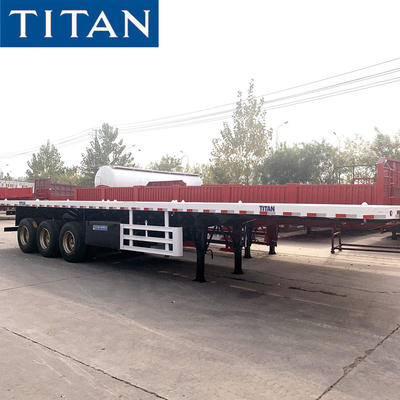 China extendable lowboy trailer trailer flatbed  semi flatbed trailers flatbed trailer sales for sale factory