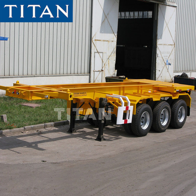 TITAN tri axle 20ft combo chassis Skeletal container trailer For Sale