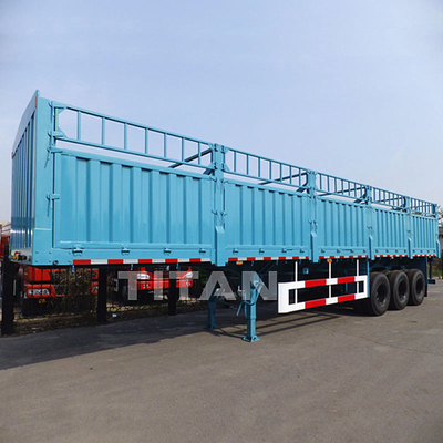China TITAN 50 tons 3 axles fence cargo sugar cane trailers for sale factory