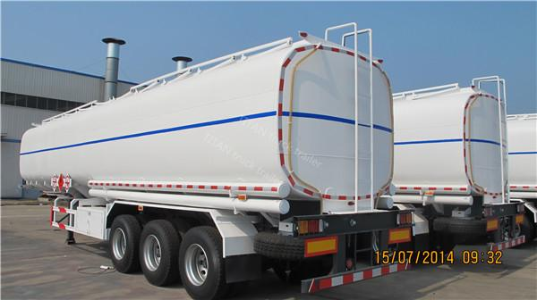 Road fuel tanker trailer for gasoline , petrol , diesel fuel transportation