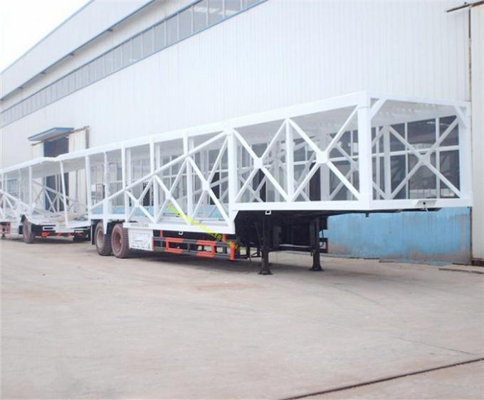 Customized 2 Axle 7 Car Hauler Trailer Frame Enclosed