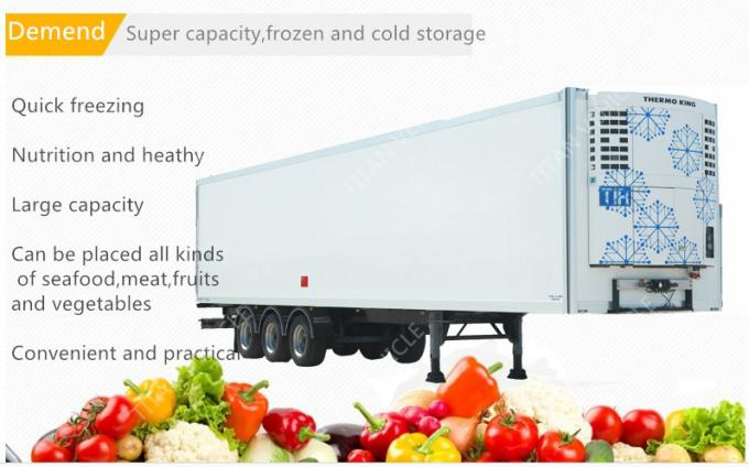 Thermo King 20ft 40ft 53ft mobile refrigerated trailer truck / cooler trailer