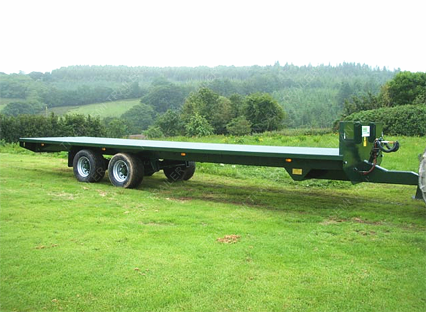 Single Double Axles Pintle Hitch Trailers With Front