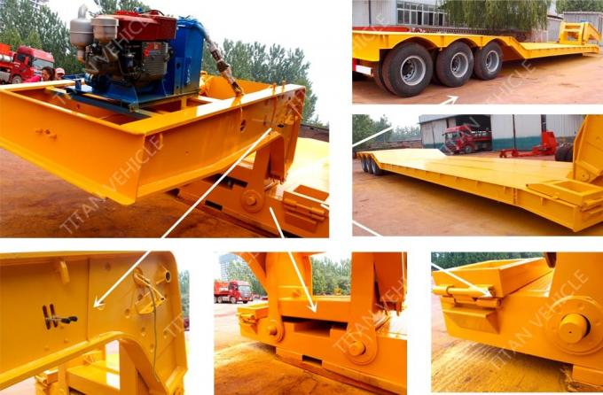 Hydraulic Detachable Gooseneck Lowboy Trailer 100 Ton For Excavator Transport