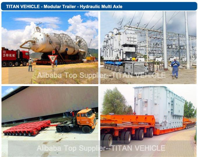 Hydraulic steering lift low loader Multi Axle Trailer for heavy duty equipment transport