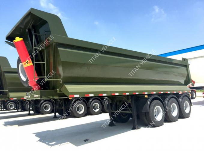 100 ton coal trailer , 2 axle 40 ton 30 cubic meters tipper trailer side dump trailer for sale