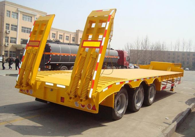 three axle low bed trailer