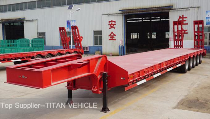 TITAN 4 Axle lowbed semi trailer 100 ton 120 tons low load trailers
