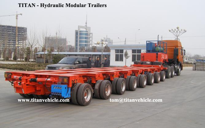 Hydraulic Multi Axle Modular Trailer
