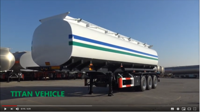TITAN 60CBM Petroleum tank trailers with three axle for a large capacity